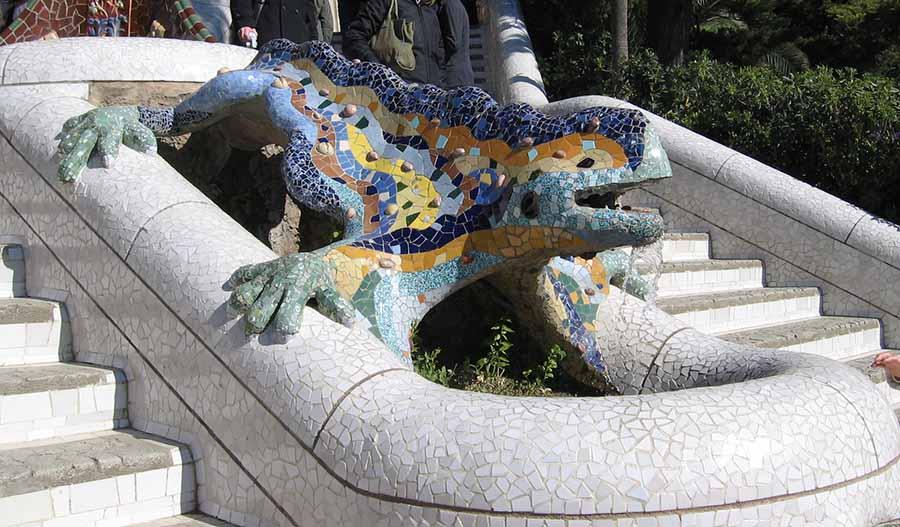 Barcelona Gezi Rehberi - Park Güell - Kertenkele