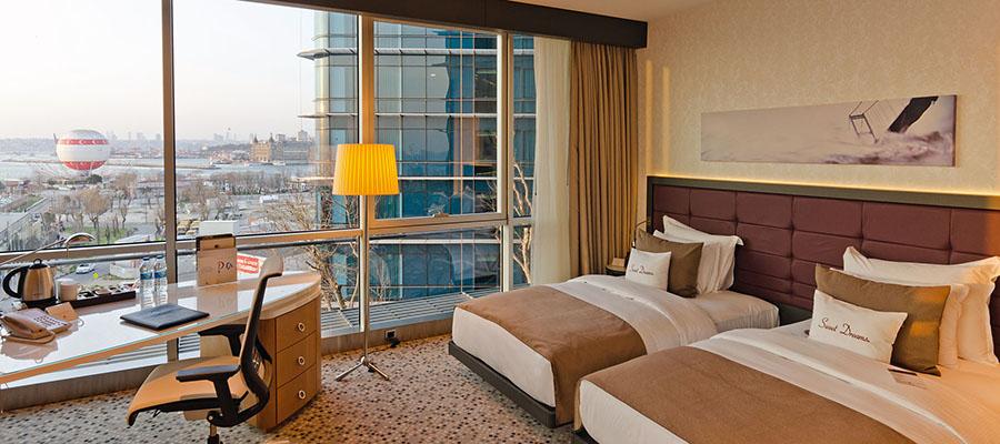 İstanbul Jakuzili Oteller - Doubletree Hotel - Manzara