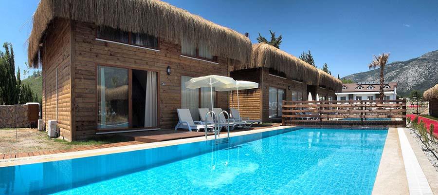 Odadan Havuza Girilebilen En İyi Oteller - Sahra Su Holiday Village - Havuz