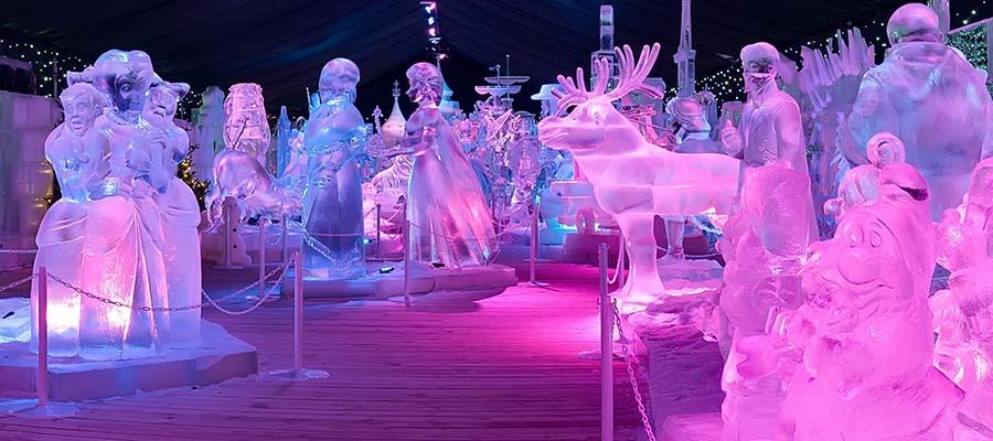 Avrupa'nın En İyi Kış Festivalleri - Hollanda Buz Heykel - Şirinler