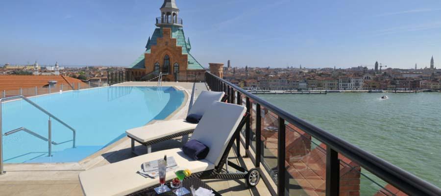 Kanallar Şehri Venedik - Hilton Molino - Teras
