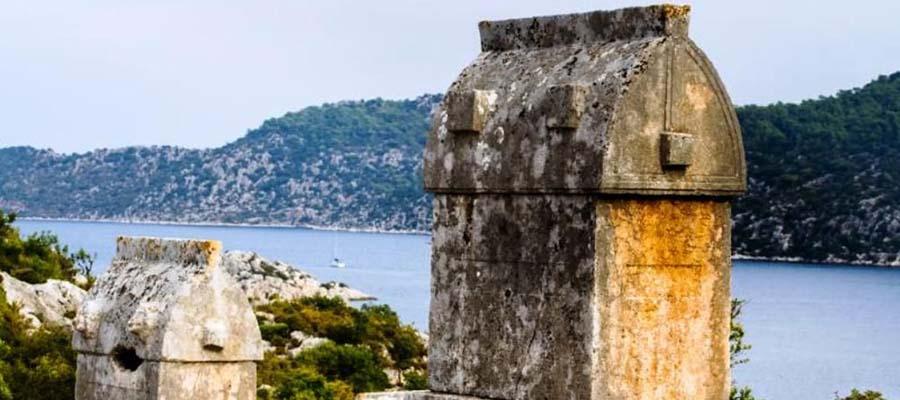 Sular Altında Saklı Bir Kent Simena Antik Kenti - Kalıntılar