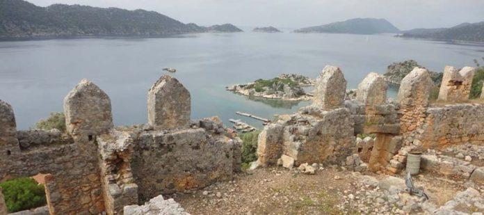 Sular Altında Saklı Bir Kent Simena Antik Kenti - Surlar