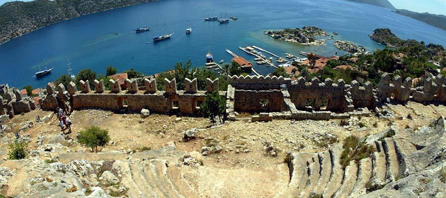 Sular Altında Saklı Bir Kent Simena Antik Kenti - Tiyatro