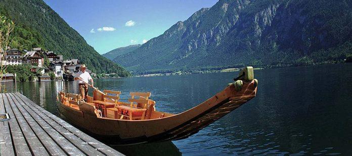 Avusturya'nın Masalsı Şehri Hallstatt - Göl Kenarı
