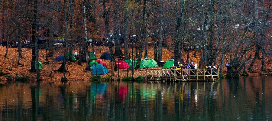 Kış Mevsiminde Yedigöller - Kamp Köprü