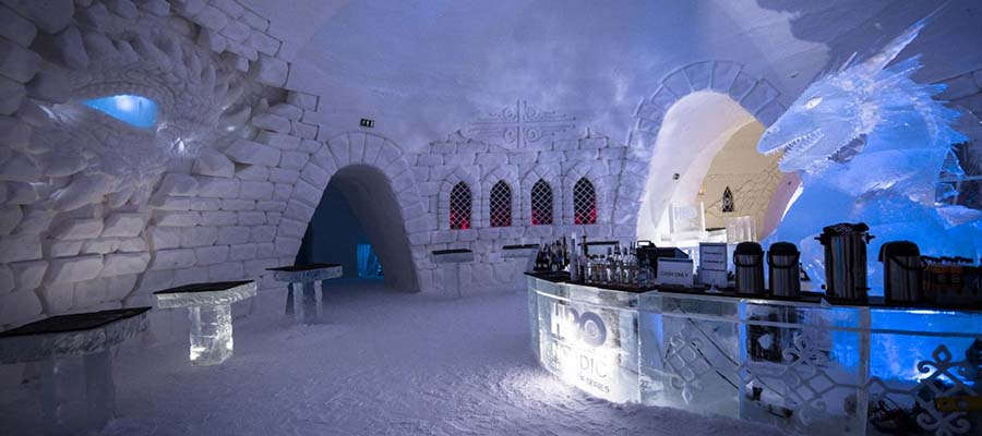 Buz Oteller - Lapland Hotels SnowVillage - Bar
